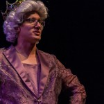 Louis Tsilivis (3L) performs in 'Alarming Her Majesty'