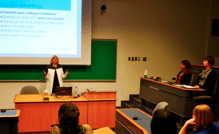 Delee Fromm speaks at the Faculty of Law on International Women's Day, March 8, 2013