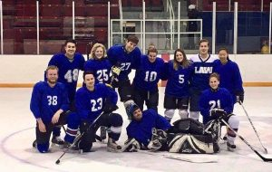 Law's first ever co-ed hockey team strikes fear into the hearts of their opponents.